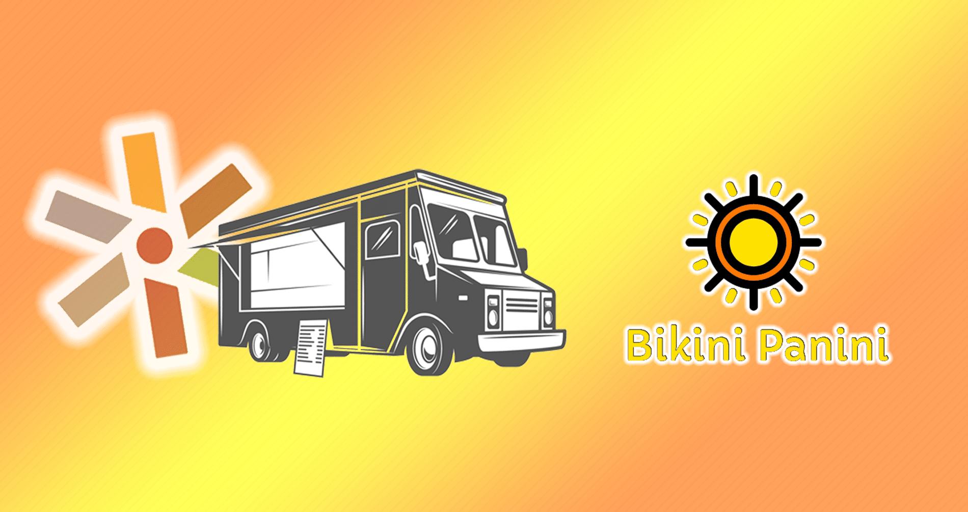 food truck icon with call federal logo and bikini panini logo